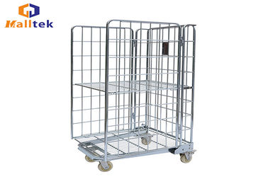 Foldable Carry Trolley Cart Roll Container Trolley Easy To Handle With Trundles